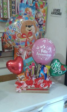 Ideas Desayunos, Ideas Para, Birthday Bouquet, Sleepover, Scrapbooks, Origami, Diy And Crafts, Balloons, Candy