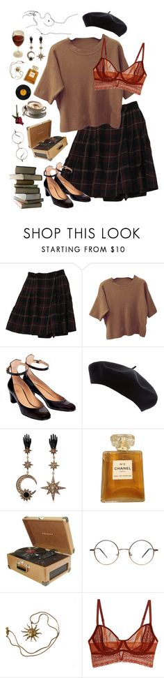"""""""don't fall in love with me"""" by diviinity ❤ liked on Polyvore featuring Rena Rowan, De Siena, Roberto Cavalli, Chanel, Crosley, Anne Klein and Intimately Free People"""