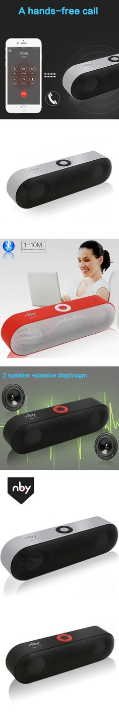 2016 New Bluetooth Speaker Wireless Portable Speaker Bass Car Subwoofer Speakerphone Microphone Music FM radio