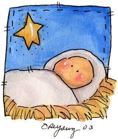 18 Easy Christmas Canvas Painting Ideas for Kids – mybabydoo – Christmas DIY Holiday Cards Christmas Rock, Christmas Nativity, Simple Christmas, Kids Christmas, Christmas Crafts, Christmas Decorations, Nativity Ornaments, Nativity Scenes, Nativity Crafts