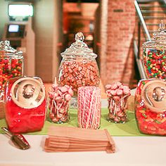 I want those candy jars with the silver lids!!!