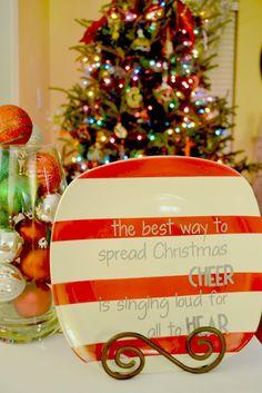 DIY Christmas Plate