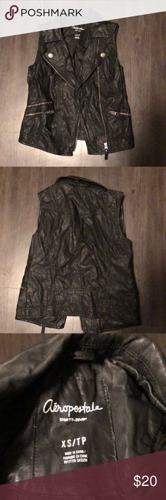 Aeropostale leather vest Aeropostale leather vest Aeropostale Jackets & Coats Vests