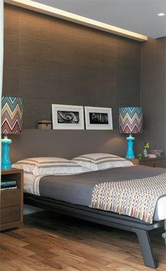 Duplex de 370 m² / Adriana Penteado #bedroom #Missoni
