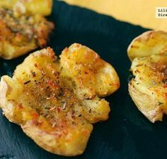 Crushed Potatoes with garnish