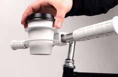 Handy!! a coffee cup holder for your coffee-to-go on bike