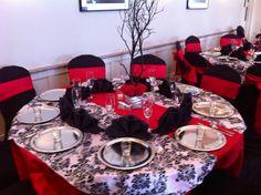 Black and red wedding Wedding Tips, Summer Wedding, Dream Wedding, Wedding Dreams, Wedding Stuff, Red Wedding Receptions, Wedding Decorations, Reception Ideas, Black Red Wedding