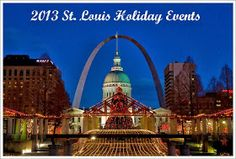 List with links to all the holiday events in the St Louis area divided by type of event (meal with santa, lights, etc)