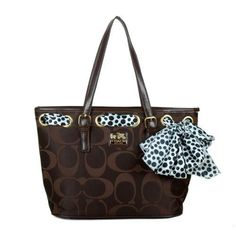Creative Coach Legacy Scarf Medium Coffee Totes EAM Makes Your World Full Of Joy And Happiness!