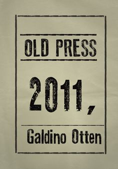 Old Press free font