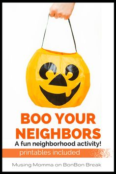 We LOVE this great Halloween activity for families and it is a great way to get to  create some community within your neighborhood!