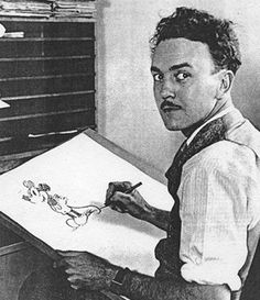 "Ub Iwerks animating Mickey ""Mortimer"" Mouse post loss of Oswald the Lucky Rabbit."