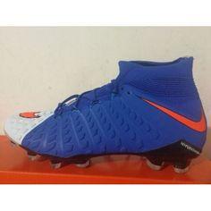 low priced 45bb9 225ab Nike Hypervenom Fotbollsskor - Billig 2017 Nike Hypervenom Phantom III DF  FG Blå Vit Orange Fotbollsskor