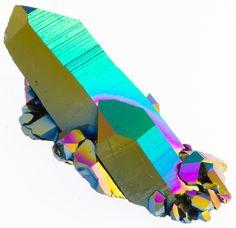 Aura Crystals Rainbow Quartz Cluster