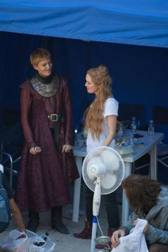 Jack Gleeson and Lena Headey - poor kid, he will be hated by everyone the rest of his life! Lol
