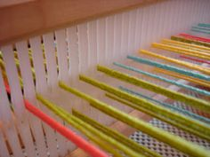 Since you don't see looms everyday, there is a lot of curiosity about how they work.  This post will show and describe what I do when I get ready for rigid heddle weaving on my loom. Let me s…