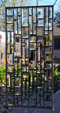 Beveled Stained Glass Window by DebsGlassArt on Etsy, $150.00