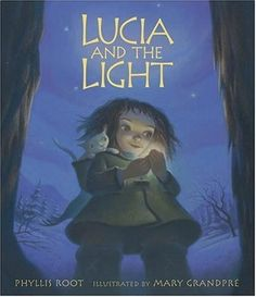 """""""Lucia and her mother and baby brother lived with a velvet brown cow and a milk-white cat in a little house at the foot of a mountain in the Far North."""" - Lucia and the Light by Phyllis Root; by Mary Grandpre Boxing Day, Kwanzaa, Mighty Girl, Sainte Lucie, Swedish Christmas, Christmas Books, Christmas Gifts, Holiday Pictures, Summer Solstice"""