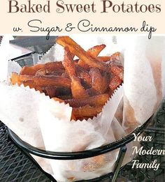 I LOVE sweet potato fries, especially when they come with a delicious dip! Sweet potato fries with cinnamon & sugar dipping sauce Our kids love to help me make this because it is just about impossible to NOT do it correctly, which means that those little hands can make mistakes and no one will know!...