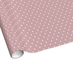 Pink and White Polka Dots Gift Wrap Paper