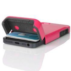 Amazon.com: Incipio STASHBACK Hybrid w / Tarjeta de Crédito Slot IPH-848 (Rosa / gris) para el iPhone de Apple 5: Teléfonos celulares y accesorios