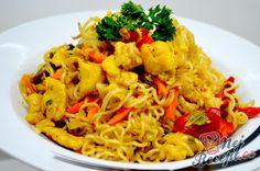 Vynikající oběd za 20 minut z jedné pánve Asian Recipes, Ethnic Recipes, Malaysian Food, Wok, Meatloaf, Kids Meals, Cauliflower, Macaroni And Cheese, Chicken Recipes