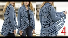 كروشيه كارديجان صيفي و شتوي ج4 Crochet cardigan for winter and summer pa...