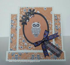 Owl Folk Stepper Cards, Owl Card, Cardmaking, Folk, Just For You, Paper Crafts, How To Make, Stamps, Crafting