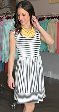Dottie Couture Boutique - Stripe Tunic Dress, $32.00 (http://www.dottiecouture.com/stripe-tunic-dress/)
