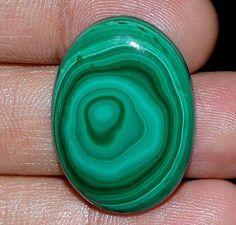 56.25Cts.100% NATURAL ROYAL GREEN MALACHITE OVAL CABOCHON  LOOSE GEMSTONES #handmade