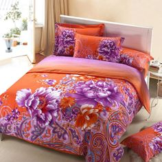 Aliexpress.com : Buy Sanding 4pcs Bedding Sets,brushed bedding sheet with reactive printed bedding products duvet cover,bed sheet and pillowcase from Reliable bedding set suppliers on Yous Home Textile $86.00 - 88.00 Queen Size, King Size, Colorful Bedding, Bedclothes, Bed In A Bag, Home Textile, Comforter Sets, Bed Spreads, Luxury Bedding
