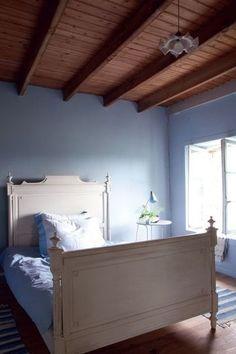 Une chambre normande pour faire des rêves bleus - Une charmante maison normande - CôtéMaison.fr