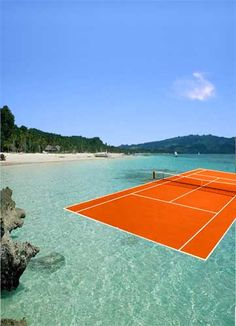 Now that's a court I'd like to play on.  #tennisparadise  #tennis