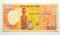 República de Chade, 500 francs
