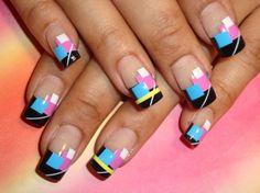 80's Style Nail Art