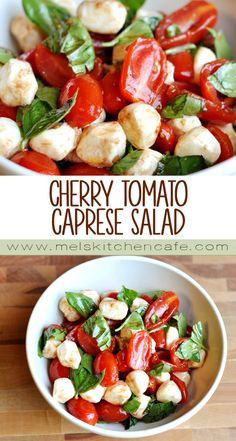 Light, flavorful and so very fresh, this Cherry Tomato Caprese Salad is perfect alongside a BBQ spread or simply by itself.