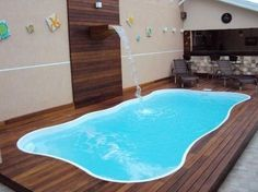 piscinas i ui Pond Tubs, Piscina Diy, Swimming Pool Heaters, Outside Pool, Small Pools, Home Landscaping, Cool Pools, Pool Houses, Pool Designs