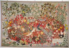 wonderful milles fleurs tapestries by dominican monk dom roberts (1907 - 1997). via Banquet Atelier & Workshop
