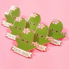 Some cute kawaii hard enamel cactus love for you