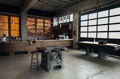 very industrial shop setting