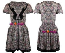 LADIES WOMENS FLORAL PRINT ZIPPED DRESS TOP SMOCKED WAIST SHORT DRESS 8-16 in Clothes, Shoes & Accessories, Women's Clothing, Dresses | eBay