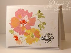... Watercolor Wonders stamp set by Altenew. The watercolor look was achieved merely by stamping with the gorgeous floral images in this set.