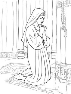 Hannah Prays For A Son Coloring Page