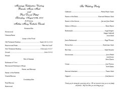 catholic wedding program idea, clean and simple layout | Fall ...