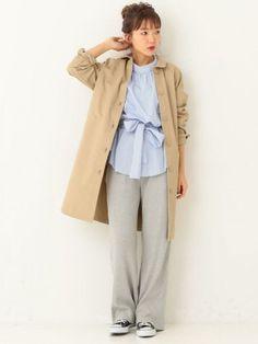 akane tominagaさんの「【WEB店舗限定】ステンカラーコート(Another Edition)」を使ったコーディネート