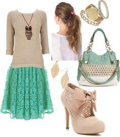 """""""Vintage Outfit"""" by kendra-iv ❤ liked on Polyvore... se de alguien que se vería increible con esa ropa... los zapatos nuuuu"""