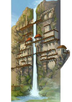 Fantasie Inspiration: Foto – # Check more at welt.vasepi… - Minecraft, Pubg, Lol and Minecraft Kunst, Minecraft Plans, Minecraft Blueprints, Fantasy Map, Fantasy Kunst, Fantasy Artwork, Fantasy Village, Fantasy Town, Fantasy City