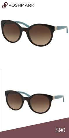 Tory Burch round color block sunglasses, tortoise Frame Color: 135913 Tortoise / Milky Fountain  Lens Color: Dark Brown Gradient Polarized Lens: No  Prescription Capable: No  Frame Shape: Round  Gender: Women  Lens Width: 54 mm Bridge Width: 21 mm Arm Length: 135 mm Lens Height: 50 mm                                      never worn. Case not included. Tory Burch Accessories Sunglasses