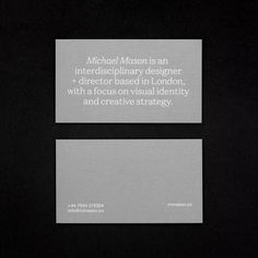 Minimal Graphic Design, Graphic Design Branding, Stationery Design, Brochure Design, Packaging Design, Business Branding, Business Card Design, Michael Mason, Web Design Mobile