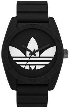 adidas Originals 'Santiago' Silicone Strap Watch, 42mm - Black  https://api.shopstyle.com/action/apiVisitRetailer?id=431345782&pid=uid8721-33958689-52